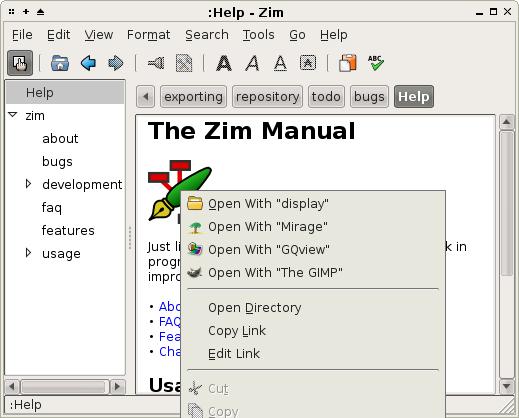 zim wiki editor