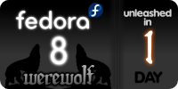 fedora 8 werewolf releases tomorrow