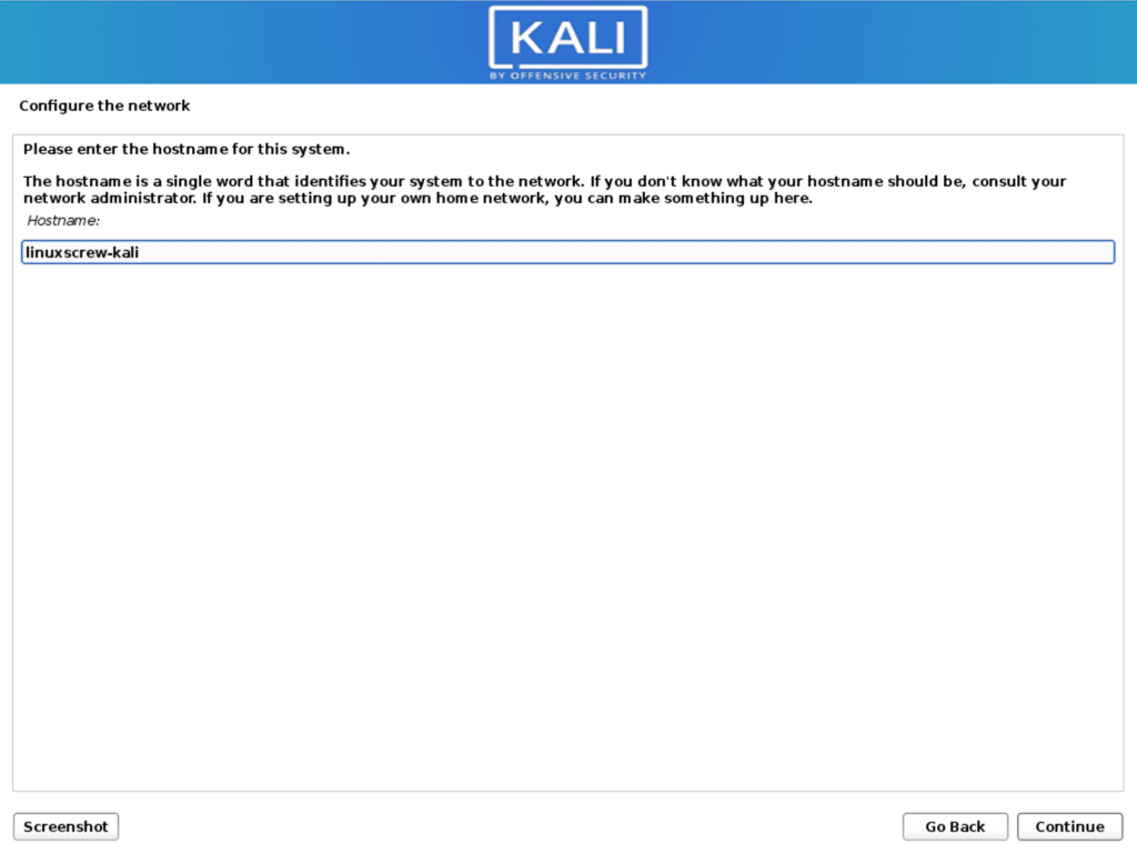 install kali 6