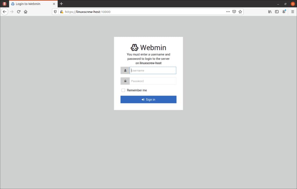 webmin install ubuntu 7