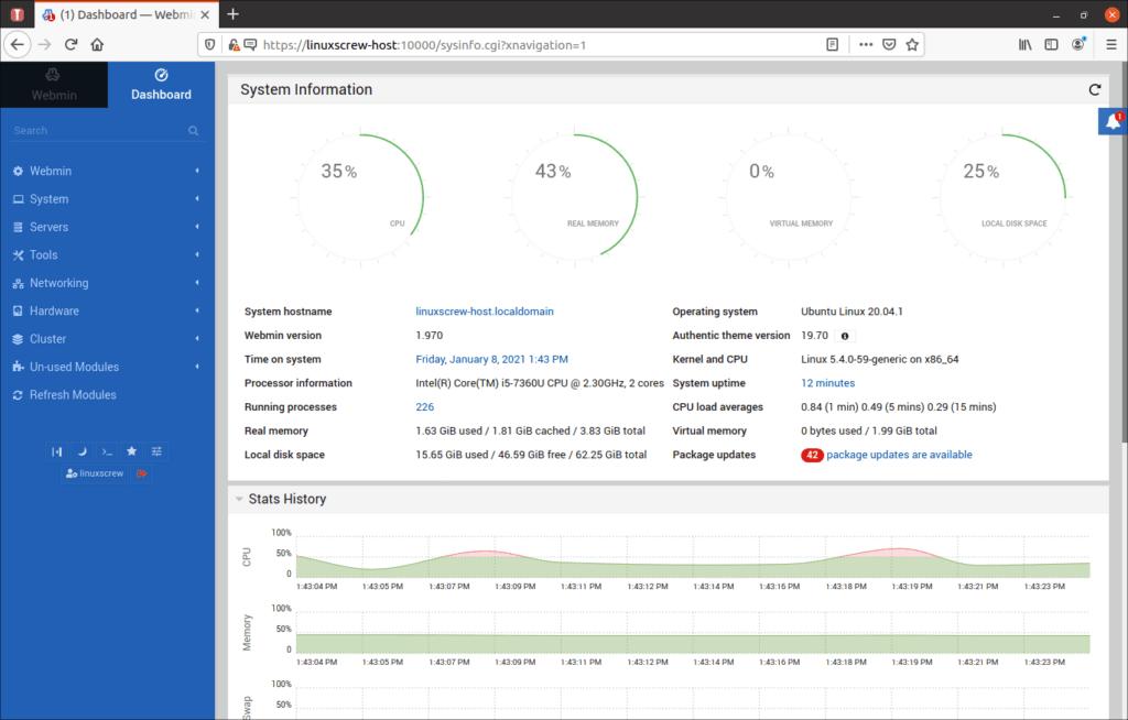 webmin install ubuntu 8