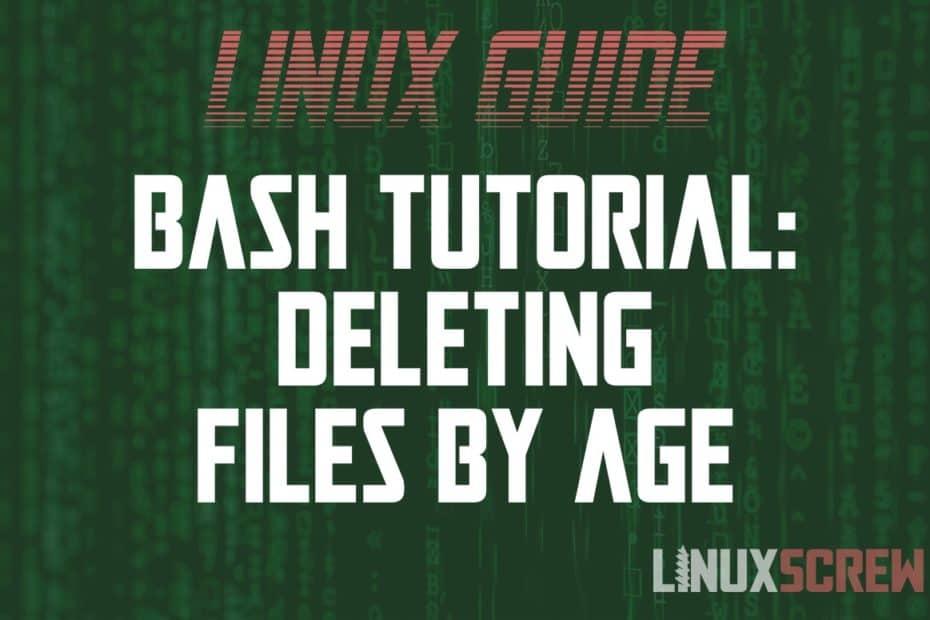 Bash Deleting Files Older Than X