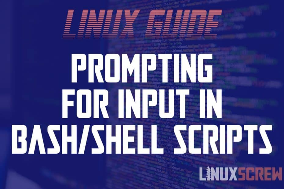 Bash Prompt For Input