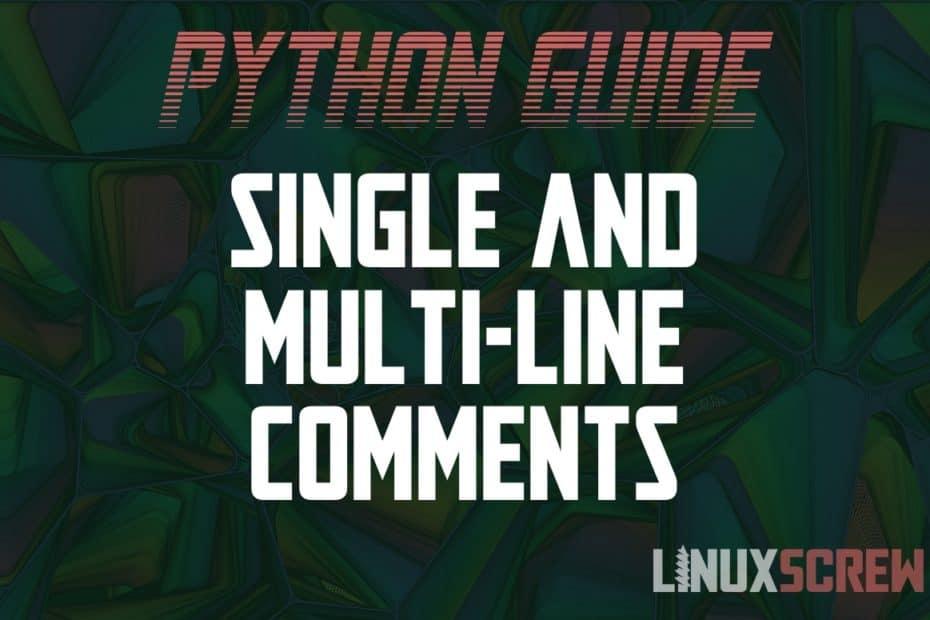 Python multi-line comment block